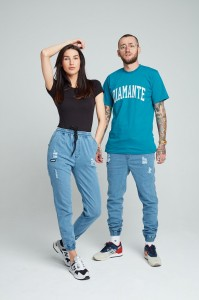 CREW - Jogger Jeans - Unisex - Ripped Light Blue