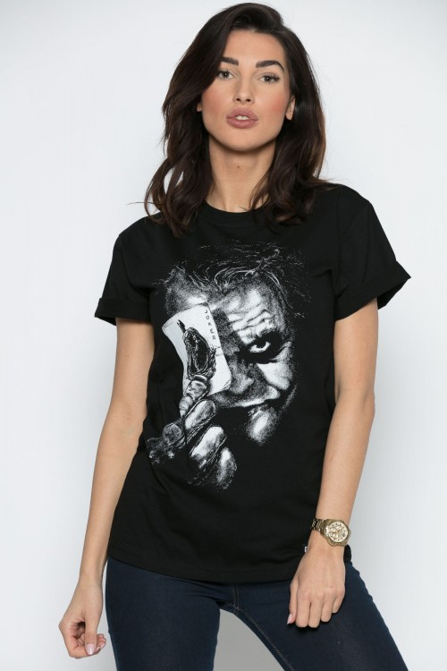 'Why So Serious?!' - T-Shirt Damski (Unisex) - Czarny