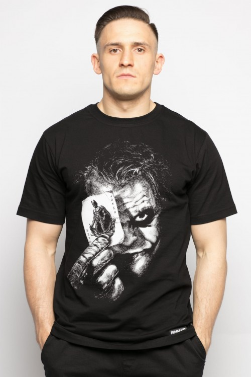 'Why So Serious?!' - T-Shirt Męski - Czarny