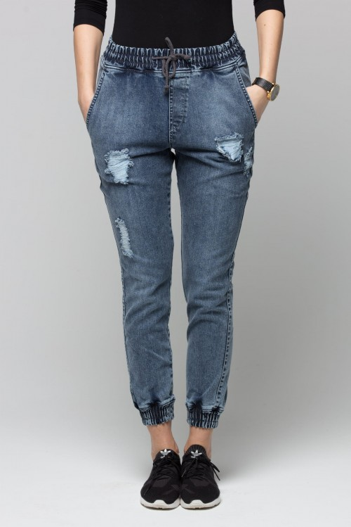 Jogger RM Jeans - Damskie - Ripped Blue Jeans